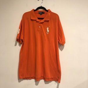 Polo Mens Polo Shirt short sleeve orange xxl
